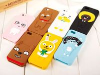 3D cartoon Forest monster animals Rabbit bear soft silicone case cover For Iphone 5 5s 6 4.7 Inch 6 6s plus 5.5 Inch