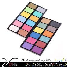 Trade Assurance Exquisite & Waterproof Pro 24 Colors Eyeshadow Makeup Palette Set