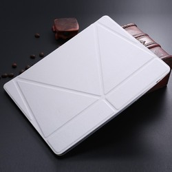 LETSVIEW Luxury Genuine Original Smart Wake Sleep Stand Smart three fold Leather Case Cover For New Apple iPad 2/3/4 Tablet PC