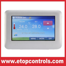 Color touch screen temperature thermostat for floor heating