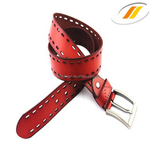 Premium leather best price wholesale leather belt(HJ15005)