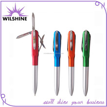 Colorful Outdoor Use Pen Knife with Metal Housing