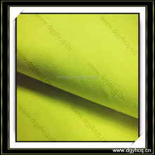 classic bright yellow synthetic alcantara leather for car interiors