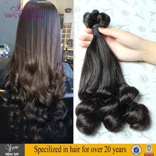 Best Selling In Nigeria Double Drawn Aunty Funmi hair Romance Curl Natural Color
