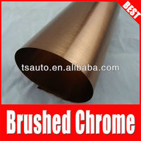 TSAUTOP RoHS certificate new style 1.52x30m Guaranteed 100%chrome brushed copper car wrapping foil brown
