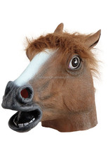 rubber horse head mask for carnival halloween party costume QMAK-2059