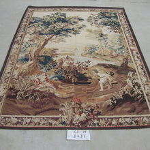 French Design Hand Woven Aubusson Tapestry