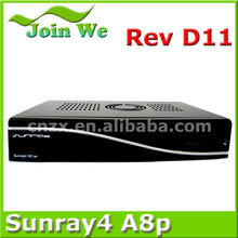 samsat hd digital tv decoder sunray 800se triple tuner wifi sim a8p card (sunray sr4 800se 3 tuner wifi)