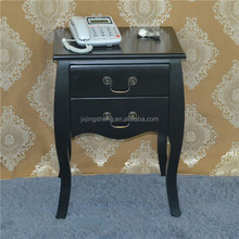 MDF Wood functional kd packing black tall drawer cabinet