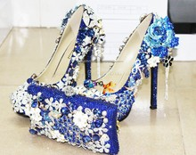new fashion handmade black glitter platform high heels