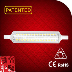 Tecno design linear glass dimmable led R7S 118mm motorcycle led bulb