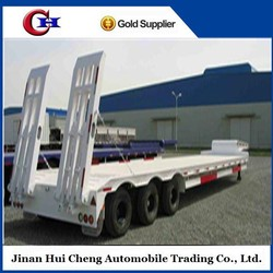 High Efficiency and good price Container low bed semitrailer