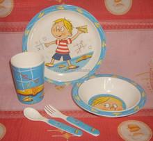 food-grade-safe 5-pcs melamine kids set or melamine children dinnerware set(C5011)