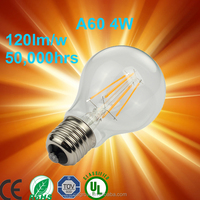 New revolutionary product 8W A60 E27 Dimmable led filament bulb,led filament