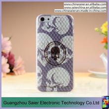 skull image fashion 3d customized couple phone case for iphone 5