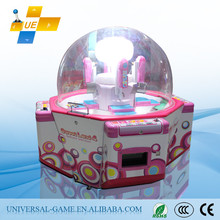 2015 Hot Sale Sweet Land 4 Coin Pusher Mini Fun Sugar Tower Crane Vending Ball Sweet Claw Prize Redemption Game Machine