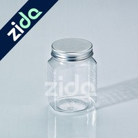 390ml clear square plastic sealing pickle jar