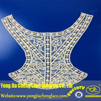 100% cotton embroidery laces neck patterns for dresses