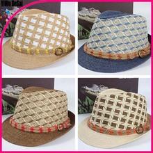 Wholesale new sun hat Both men and women Hemp rope belt jazz cap hat