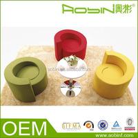 Public Leisure Area Pure Color And Culture Fabric Comfortable Sofa Seating