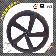 700c carbon road bike 65mm clincher wheel with disc brake hub 3K matte/glossy finish 5 spokes bicycle wheel