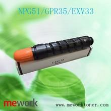 China wholesale toner cartridge EXV33 for canon cartridges for printer