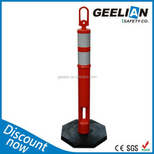 Reflective Elastic Collapsible Parking Bollards For Safety