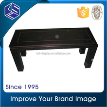 2015 Fashion MDF painting in black 1-3 layers island store display rack