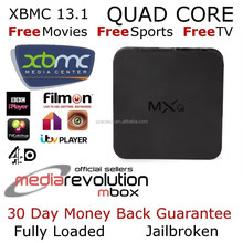 2015 newest MXQ TV Box XBMC / KODI Fully mxq amlogic s805 android 4.4 2 High speed USB 2.0,support U DISK XBMC,skype,email