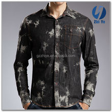 in stock items latest fashion fit denim shirt