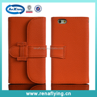 2015 new products Customized PU Leather flip Mobile Cell Phone Case for iphone