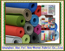 Customized needle punched non woven polyester felt