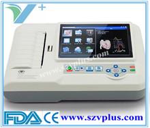 Digital ECG machine 600G Digital 3/6 Channel ECG touch Color screen