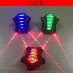 New Bicycle Accessories Rear Light Silver Skull Cycling Bike Bicycle Laser Rear Tail Light 2LED 7 Modes Lamp Flash Bicycle Light