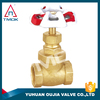TMOK 4 inch gate valve iron handwheel brass gland nut brass gasket brass stem knife gate valve and thread material Hpb57-3