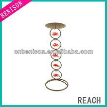 bird shaped bronze finish wedding decor black iron candle holder