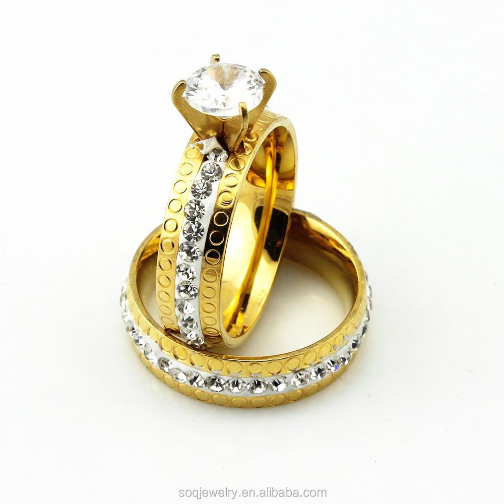 luxury wedding band titanium ring with 18k