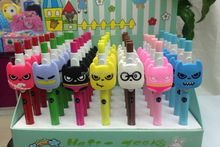 promotion hot sale in Korea 3D cartoon character pvc ball pen