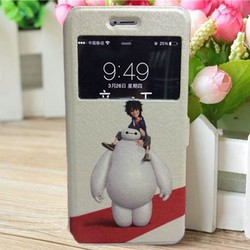 New Design Cartoon PU Leather Flip Wallet Stand Case Cover For iPhone 6