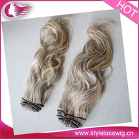 High quality hair extention,factory price gray hair weave gray human hair