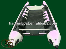 High speed inflatable racing boat catamaran