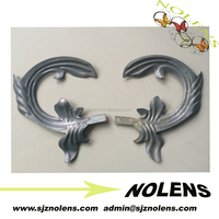 Stamping Leaves And Flowers Of Wrought Iron Gate Metal Fence Components Made In China
