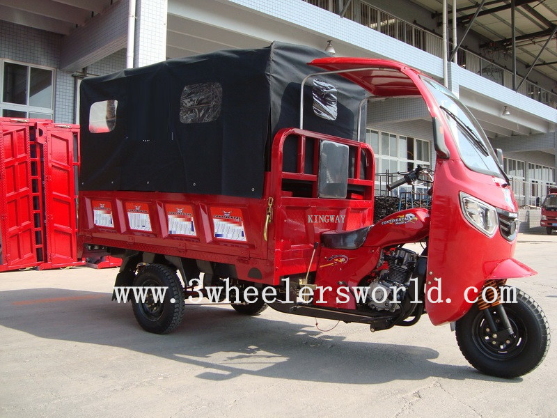 KINGWAY 200cc Closed Cabin Cargo Tricycle,New Three Wheel Motorcycle,3 Wheel Motorcycle