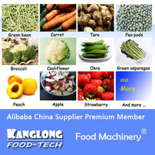 Treating production line before IQF of Vegetable
