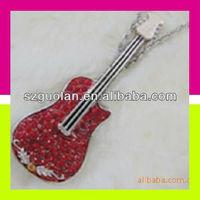 Kid Gift USB 1.1 USB2.0 512MB Delicate Fashion Bling Bling Diamond Guitar USB Flash Drive