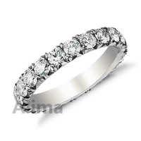 AGR0413-W promotional sale antique European diamond wedding band ring eternity platinum