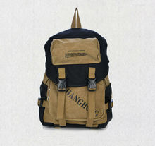 2015 stylish unisex canvas backpack bag for college students