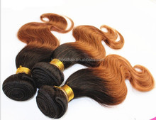 ombre tone high quality brazilian hair human hair weave extensions