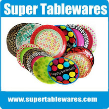 High Quality Party Supplies Custom Paper Plates