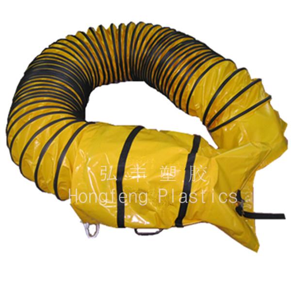 Inch orange ventilation suction flexible spiral duct